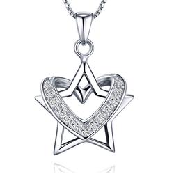 Dây chuyền bạc ngôi sao lồng trái tim S022