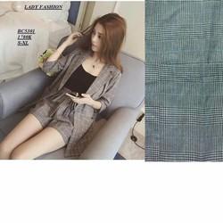 Sét bộ áo vest +Quần short nơ giả váy kèm áo 2 dây - SETKN286