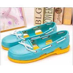 Giày Crocs beachline boat màu xanh
