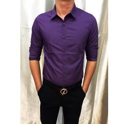 Aó sơ mi nam màu tím dành cho phái mạnh lịch lãm trẻ trung