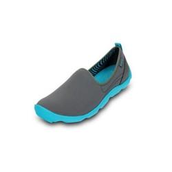Giày Crocs skimmer màu xám đế xanh