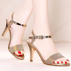 Giày Nữ Cao Gót Kim Tuyến