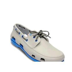 Giày crocs beachline boat màu trắng bạc đế xanh