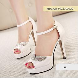 HÀNG CAO CẤP - Giày cao gót mắt đá thời trang