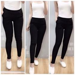 Quần legging đen có túi