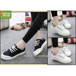 Giày bata cầu vòng | giày bata nữ đế bệt