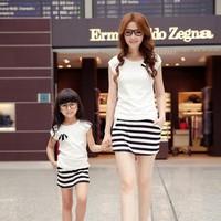 Combo bộ đồ đôi cho mẹ và bé gái 0400