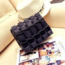Túi đeo chéo Hàn Quốc màu đen - Hàng nhập - Y hình