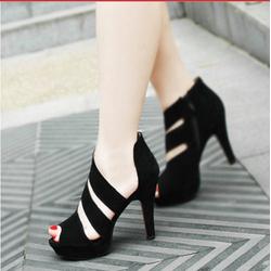 HÀNG CAO CẤP - Giày cao gót chéo dây sành điệu