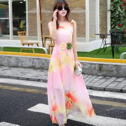 Đầm maxi bông hoa quyến rũ MX219
