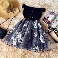 Đầm Hoa Hồng - Hàng Nhập