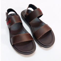 Giày sandal da bò nâu nam tính