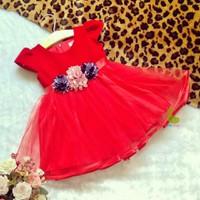 Đầm công chúa nhung đỏ