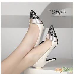 HÀNG LOẠI 1- CHẤT LIỆU NGOẠI NHẬP: Giày cao gót mũi nhọn Pinky