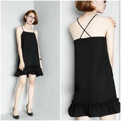 SỈ - LẺ ĐẦM THIẾT KẾ: Đầm đen 2 dây