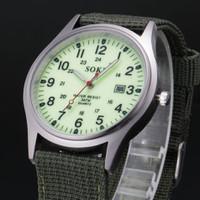 Đồng hồ Soki mặt dạ quang dây vải SP238