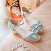 HÀNG NHẬP CAO CẤP- Giày cao gót đế đúc nơ xinh