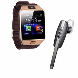 Đồng hồ điện thoại DZ09 và tai nghe bluetooth S1000