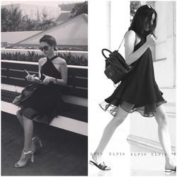 SỈ - LẺ ĐẦM THIẾT KẾ: Đầm yếm màu đen