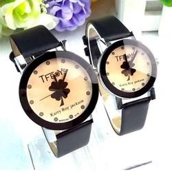 Đồng hồ đôi dây da thời trang