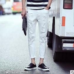 Quần Jeans ống côn, co dãn, phong cách Hàn Quốc