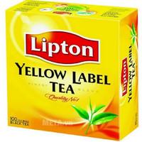Trà túi lọc nhãn vàng Lipton 2gx100