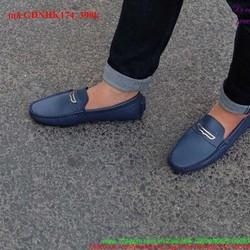 Giày mọi da nam công sở khóa ngang lịch lãm GDNHK174