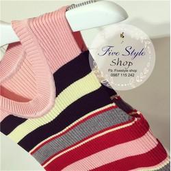 Đầm len sọc sát nách hàng nhập: MS: DH26422