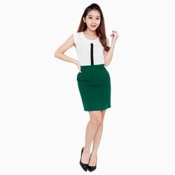 Chân váy công sở vạt lưng cách điệu - V05223060