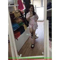 Đồ bộ mặc nhà ngắn tay hình hoạt hình dễ thương DBTN462