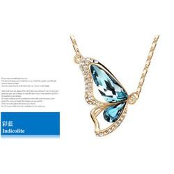 Dây chuyền nữ thời trang, mặt hình bướm đính đá hiện đại, sang trọng.
