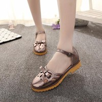 Giày Sandal nữ Retro kiểu dáng dễ thương thời trang Hàn Quốc - SG0164