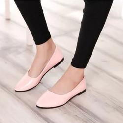Giày búp bê trơn đơn giản màu hồng BB20-2 - bảo hành keo trọn đời