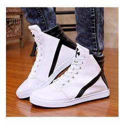 giày thể thao cổ cao chữ thập Mã: GH0187 - TRẮNG