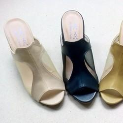 Dép thời trang lưới cao gót êm chân, sành điệu