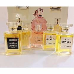 Set nước hoa Chanel 5 chai - chanel coco, chance, n5