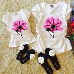 combo 2 áo thun cho mẹ và bé