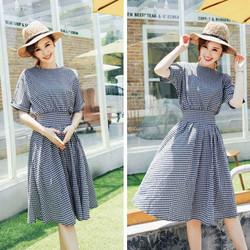 Đầm caro Hàn Quốc cao cấp