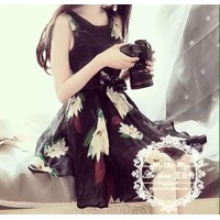 Đầm Kiếng Hoa - Hàng nhập