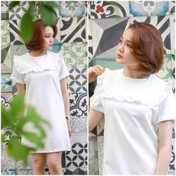 SỈ - LẺ ĐẦM THIẾT KẾ: Đầm suông trắng