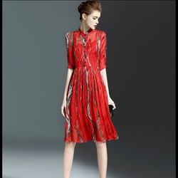 Đầm voan tay lỡ kèm váy hai dây – DV2542