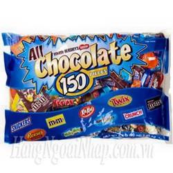 Kẹo chocolate Mix Variety hỗn hợp 150 thanh 2.55kg