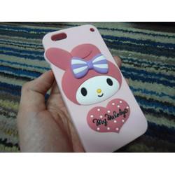 Ốp iphone 6 plus thỏ nơ dễ thương ngộ nghĩnh