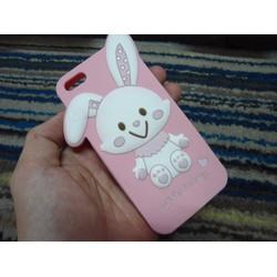 Ốp iphone 5 5s thỏ dễ thương ngộ nghĩnh