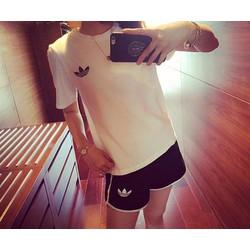 Bộ đồ short thể thao nữ thời trang kiểu dáng năng động-AQ348