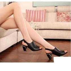 Giày chất lượng loại 1-giày cao gót hở mũi