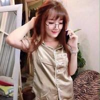 Đồ bộ mặc nhà short chất liệu phi bóng sành điệu DBTN460