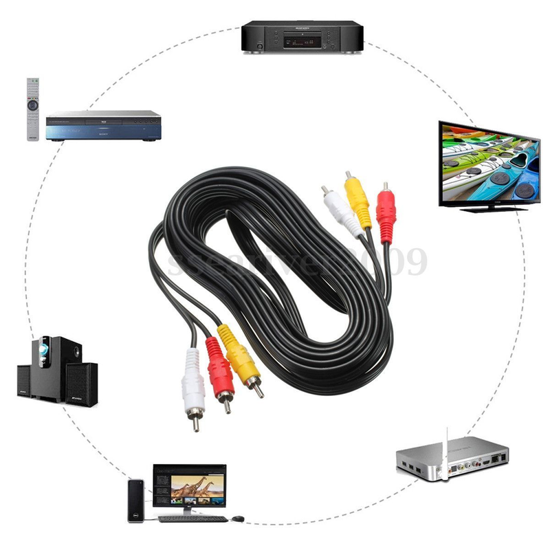 Cáp AV hoa sen Video và Audio RCA dài 10m 1