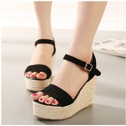 HÀNG CAO CẤP - Giày sandal đế xuồng 1 quai ngang