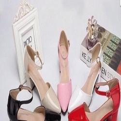 Giày cao gót công sở mũi nhọn khoét 2 bên sành điệu GCN190